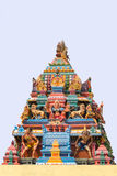 Statue of Durga on Mariamman temple in Kothamargalam. Royalty Free Stock Images