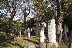 Statue e colonne antiche Immagine Stock