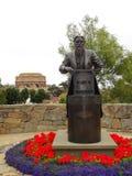 Statue Eadweard Muybridge in San Francisco Stockbild