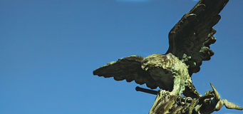 Statue of eagle as a symbol of grandeur, and power. Statue of an eagle as a symbol of grandeur and power Stock Image