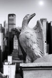 Statue of eagle on the edge Stock Photo