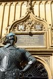 Statue of Earl of Pembroke Bodleian library Royalty Free Stock Image
