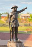 Statue of Early American Frontiersman Royalty Free Stock Photo