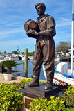 Statue of an early sponge Diver in Tarpon Springs Stock Photography
