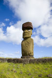 Statue easter island. Lonely statue at easter island Royalty Free Stock Photography