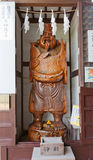 Statue of Ebisu God in Oishi Shrine of Ako town, Japan Stock Image