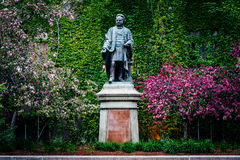 Statue of Ecerton Ryerson, at Ryerson University, in Toronto, On Royalty Free Stock Images
