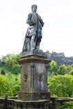 Statue in Edinburgh, Scotland with castle in background. Beautiful statue in Edinburgh Scotland with castle in background Stock Images