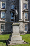 Statue of Edmund Burke at Trinity College, Dublin, Ireland, 2015 Stock Images