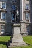 Statue of Edmund Burke at Trinity College, Dublin, Ireland, 2015 Stock Images