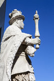 Statue of Edward VI at St. Thomas's Hospital in London Royalty Free Stock Photos