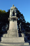 Statue of Edward VII (and pigeon), Aberdeen, Scotland Royalty Free Stock Photography