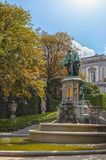 Statue of Egmont and Hoorne on Petit Sablon Square Royalty Free Stock Images