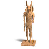 Statue of egyptian god anubis Royalty Free Stock Images