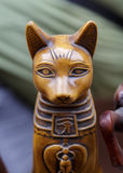 Statue of the Egyptian god cat. Stock Photos