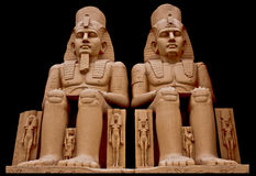 Statue of egyption pharaoh Stock Photos
