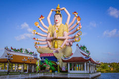 Statue of eighteen arms Buddha in Samui, Thailand Stock Photo