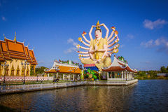Statue of eighteen arms Buddha in Samui, Thailand Stock Images