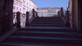 Statue einer Berühmtheit in Venedig stock footage