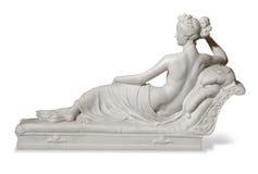 Statue einer Frau in der antiken Art Lizenzfreies Stockfoto