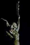 Statue einer Frau mit Fanfaren Stockbilder