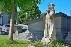 Statue eines betenden Engels Lizenzfreie Stockfotos