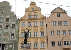 Statue eines Brunnens in der Stadt von Augsburg im Bayern (Deutschland) Stockfotografie