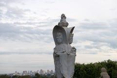 Statue eines chinesischen Kriegers am buddhistischen Tempel Lizenzfreie Stockbilder