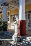 Statue eines griechischen mythischen Musen in Achilleions-Palast, Korfu-Insel, Griechenland, errichtet von der Kaiserin von Öster Stockfotos