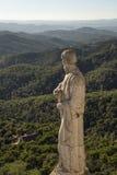 Statue eines Heiligen bei Tibidabo Lizenzfreies Stockbild