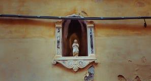 Statue eines Heiligen, Portovenre, Italien lizenzfreie stockfotos