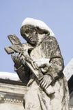 Statue eines Heiligen, sacro monte, Varese lizenzfreie stockbilder