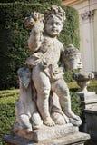 Statue eines kleinen Jungen mit einem Schaf Lizenzfreies Stockbild