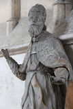 Statue eines Mannes des Stoffes - VendÃ'me - Frankreich Stockfoto