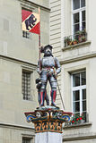 Statue eines Ritters an der alten Stadt von Bern, die Schweiz Stockbild