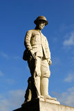 Statue eines Soldaten. Stockfotografie