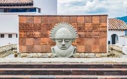 Statue am Eingang der Stadt von Guatavita Lizenzfreie Stockbilder