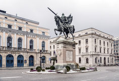 Statue of El Cid in Burgos, Spain Royalty Free Stock Photography