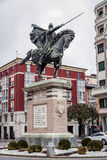 Statue of El Cid in Burgos, Spain Stock Photos