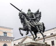 Statue of El Cid in Burgos, Spain Stock Image