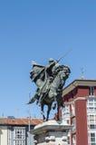 Statue of El Cid in Burgos, Spain Stock Photos