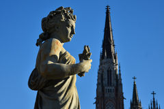 Statue `El Verano` at Moreno Square royalty free stock images