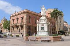 Statue of Eleonora d`Arborea in Oristano Sardinia Italy. Statue of Eleonora d`Arborea in Oristano, Sardinia, Italy. Eleonora d`Arboreawas the judikessa Queen in royalty free stock photo