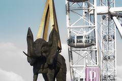 Statue of elephant. Close to Londo Eye Royalty Free Stock Photos