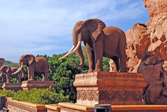 Statue of elephants Stock Photography