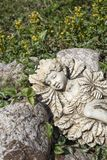 Statue of an elf  sleeping in the garden Stock Photography