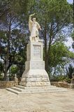 A statue of Elijah the Prophet on Mount Carmel Israel stock image