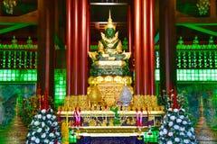 Statue of the Emerald Buddha at Wat Phra Kaew Stock Image