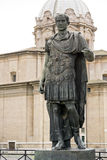 Statue of emperator Julius Caesar in Rome, Italy. Full view of statue of emperator Julius Caesar in Rome, Italy royalty free stock images