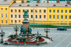 Statue Of Emperor Alexander II Of Russia On Senate Royalty Free Stock Photography